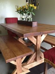 Fancy X Farmhouse Table And Benches Plans At Ana Whitecom Dining