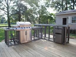home decor how to build an outdoor kitchen plans dining benches intended for metal frame outdoor