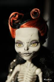 monster high ooak doll skelita calaveras by melancholiacraft