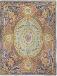 vintage french aubusson rug bb5215