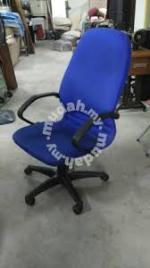 office blue. Office High Back Arm Chair With Rollers Blue*L18 D - Furniture \u0026 Decoration For Sale In Cheras, Kuala Lumpur Blue