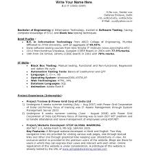 Best Resume Format For Software Developer Sample Resume Format For Freshers Software Engineers Developer