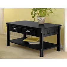 winsome wood timber black coffee table