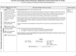 Carroll County Public Schools Elementary Mathematics