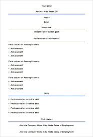 Blank Resume Template Printable Interesting Blank Resume Sheets 28 Ifest Info Resume Samples Downloadable
