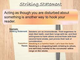 thesis statement for secondhand smoke essay titles for streetcar  find dissertations online yale
