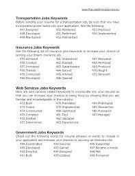 Resume Keywords List 35219 Allmothers Net