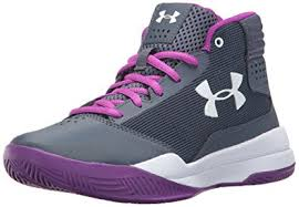 under armour girls basketball shoes. under armour girls\u0027 grade school jet 2017, apollo gray/white/ girls basketball shoes l