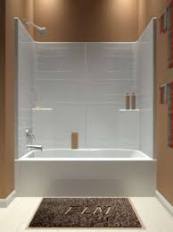 60 3 piece tiled whirlpool tub shower unit