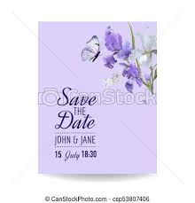 Save The Date Cards Template Save The Date Card With Flowers And Butterflies Floral Wedding Invitation Template Botanical Design For Greeting Cards Vector Illustration