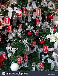 Christmas Sale Christmas Tree With Sale Signs Stock Photo 2295673