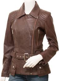 women s brown leather leather jacket simi front