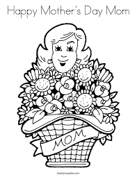 Small Picture Mothers Day Coloring Pages Twisty Noodle
