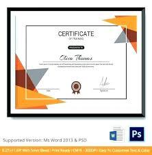 Certificate Of Training Completion Template Training Certificate Template Free Word Workshop Image Large