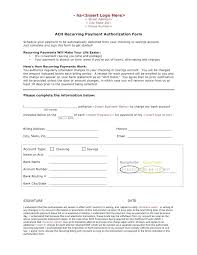 Automatic Withdrawal Form Template Credit Card Authorization Form Template Images Of Order With