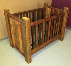 rustic crib furniture. Rustic Barn Wood Baby Crib With Thick Posts Furniture N