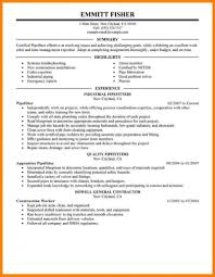 Pipefitter Resume Example Journeyman Pipefitter Resume Best Example Livecareer Construction 14