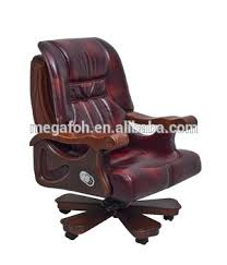 luxury leather office chair. school office furniture luxury red leather principal chair foh1311