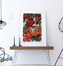kitchen wall art cherries print kitchen print food  on wall decor prints with kitchen wall art cherries print kitchen print food photograph fruit