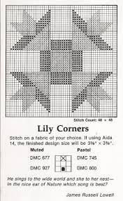 CROSS STITCH Quilt Block Lily Corners PATTERN KIT | Cross stitch ... & CROSS STITCH Quilt Block Lily Corners PATTERN KIT Adamdwight.com