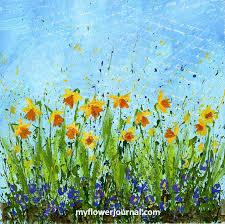 daffodil doodles in 4 easy steps