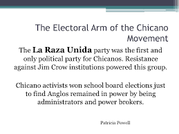 "the origins and history of the chicano movement"" ppt video  the electoral arm of the chicano movement"