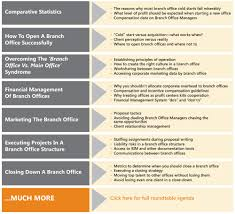 a e c branch office optimization roundtable