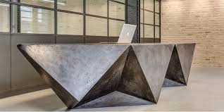 retro office design. Retro Office Design Ideas With Unique Reception Desk Furniture Decoration And Wall Brick Decor