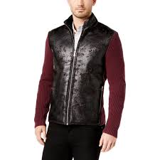 inc mens fall faux leather varsity jacket 0