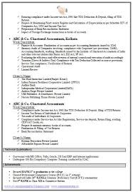 chartered accountant resume format freshers page 2 resumes format for freshers