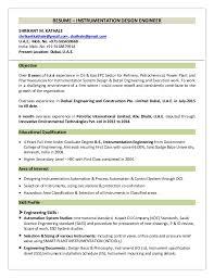 Instrumentation Design Engineer Sample Resume Design Engineer Resume