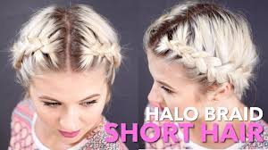 HOW TO Milkmaid Braid Short Hair | Milabu - YouTube