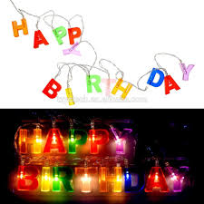 Happy Birthday Led String Lights 13 Led Happy Birthday String Lights Battery Operated Indoor Party Decor Home Buy Happy Birthday Led Light Battery Pack Festival Led Lights For