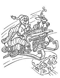 Coloring Pages Grinch The In Christmas Sleigh Hellokids Coloring Pages