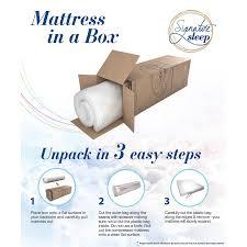 memory foam mattress box. Signature Sleep Bliss 12-inch Luxury Gel Memory Foam Mattress With CertiPUR-US Certified - Free Shipping Today Overstock.com 17243060 Box