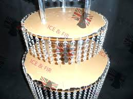 chandelier cake stand hanging by caramel post for philippines chandelier cake stand