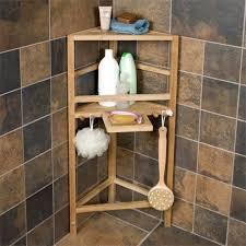 freestanding teak corner shower shelf with removable soap dish shower cads bathroom accessories