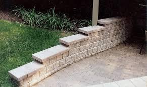 unilock retaining wall patio