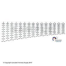 Hha Sight Tape Chart X Spot Calibrated Sight Scale Compound