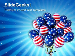 American Balloons For Patriotism Powerpoint Templates Ppt