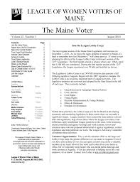 LEAGUE OF WOMEN VOTERS OF MAINE