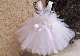 WHITE TUTU DRESS. Baby 3-24 Months. Baptism. Christening. Birthday.