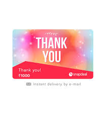 Snapdeal Thank You E-Gift Card - Buy Online on Snapdeal