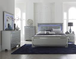 Mirrored Headboard Bedroom Set Upholstered Queen Bedroom Sets 5 Pc Victorian Renaissance Style