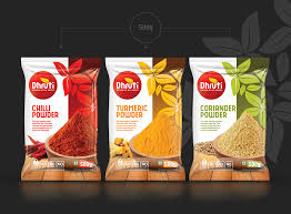 Plastic Packet Design Dhruti Spices Packaging Design Spices Packaging Packaging