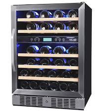 built in dual zone wine cooler. Fine Wine NewAir DualZone 46Bottle Freestanding Wine Cooler On Built In Dual Zone L