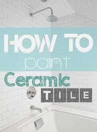 Refinish Bathroom Tile Magnificent How To Refinish Ceramic Tile Kitchen Pinterest Tiles Bathroom