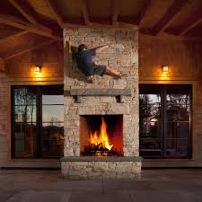 double sided indoor outdoor fireplace designs