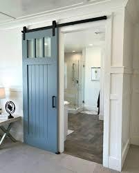 Light Blue Barn Door Blue Door Against Light Walls Home Interiors In 2019
