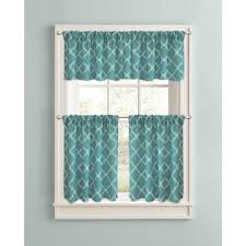 better homes and gardens trellis kitchen curtains set of 2